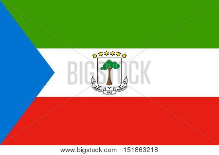 Equatorial Guinean national official flag. African patriotic symbol banner element background. Flag of Equatorial Guinea in correct size and colors vector illustration