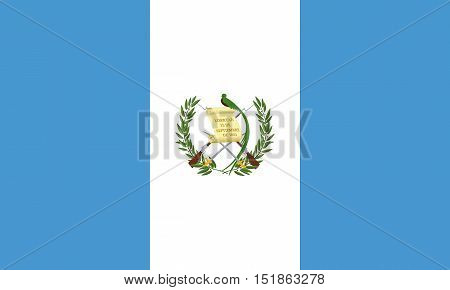 Guatemalan national official flag. Patriotic symbol banner element background. Accurate dimensions. Flag of Guatemala in correct size and colors vector illustration