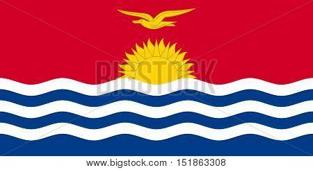 Kiribati national official flag. Patriotic symbol banner element background. Accurate dimensions. Flag of Kiribati in correct size and colors vector illustration