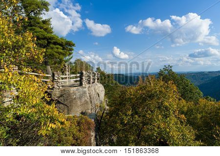 Viewing Platform At Coopers Rock State Forest Wv