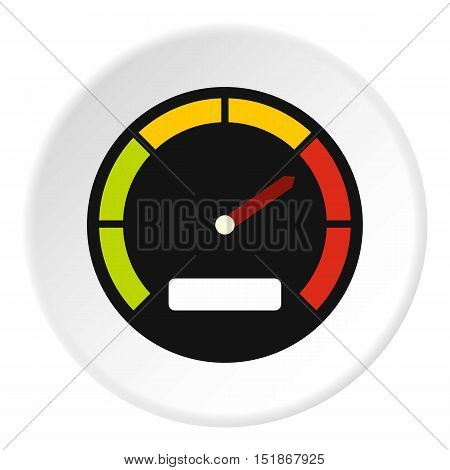 Speedometer dial icon. Flat illustration of speedometer dial vector icon for web