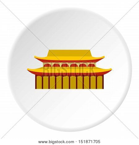 Sacred temple icon. Flat illustration of sacred temple vector icon for web