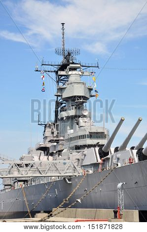 USS Wisconsin Battleship (BB-64) in Norfolk, Virginia, USA