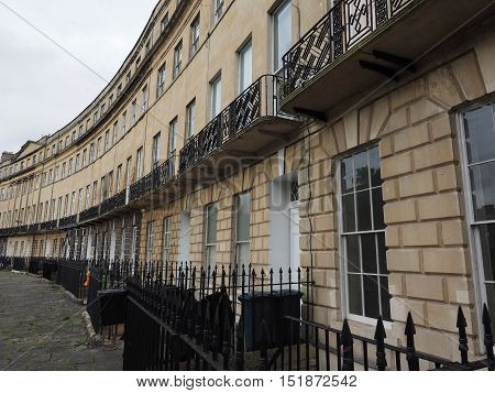 Norfolk Crescent Row Of Terraced Houses In Bath