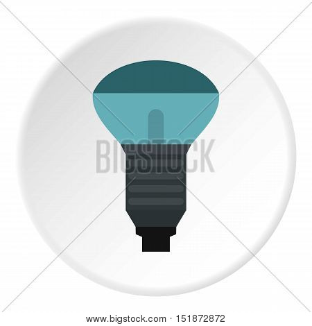 Lamp with blue light icon. Flat illustration of lamp with blue light vector icon for web