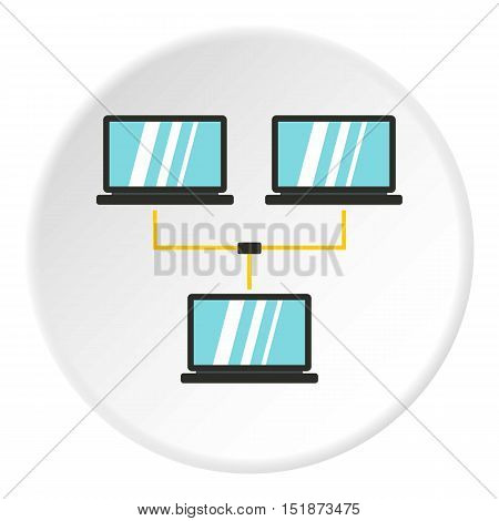 LAN icon. Flat illustration of LAN vector icon for web