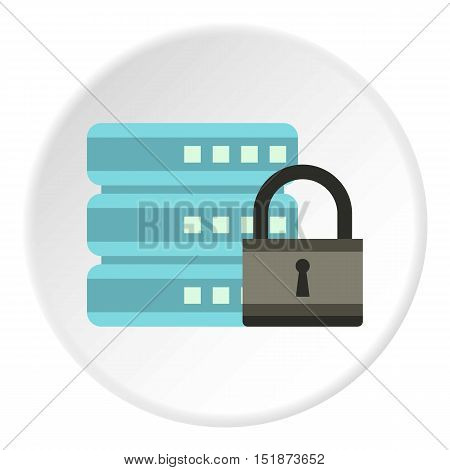 Data retention protection icon. Flat illustration of data retention protection vector icon for web