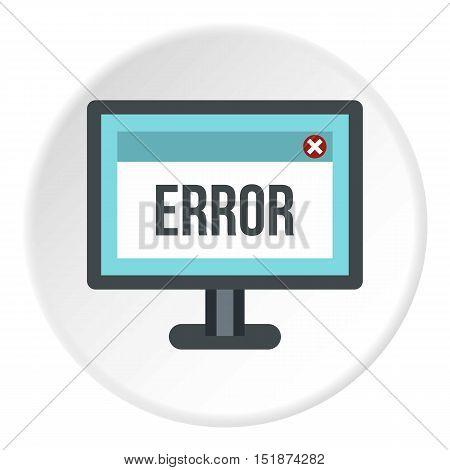 Monitor error icon. Flat illustration of monitor error vector icon for web
