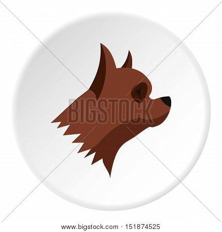 Pinscher dog icon. Flat illustration of pinscher dog vector icon for web