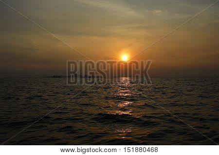 Sea evening sun goes down close to my heart happy.