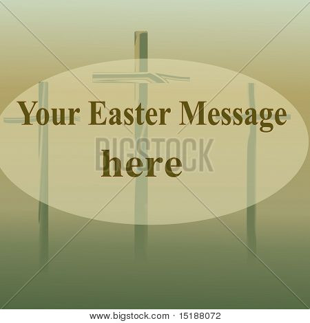 Easter crosses.  sign