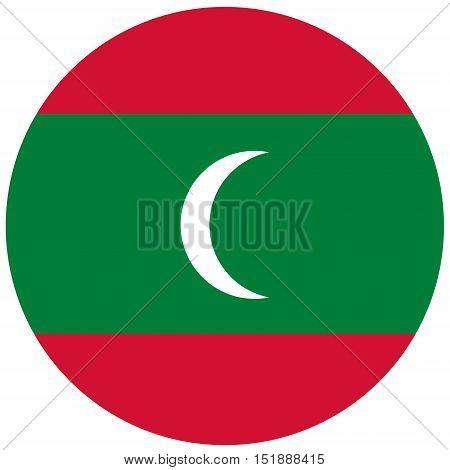 Round Maldives Flag