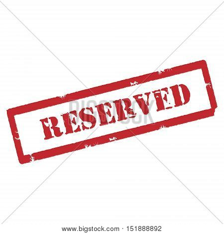 Red Reserved Stamp