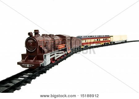 Toy Train Isolated On White