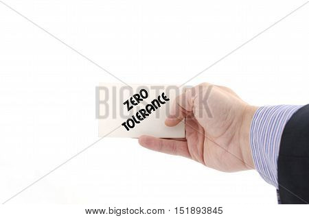 Zero tolerance text concept isolated over white background