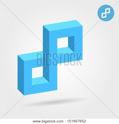 Cubic illusion p abstract letter 3d vector illustration eps 10