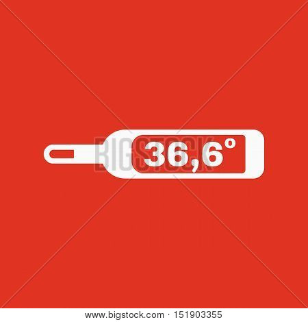 The medical thermometer icon. Healthy and diagnostic, doctor, medicine symbol. Flat Vector illustration