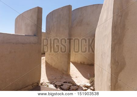 Detail of Chamber of Sound at Fortaleza de Sagres, abstract architecture