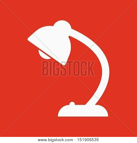 The table lamp icon. Reading-lamp and lighting, illumination, light symbol. Flat Vector illustration