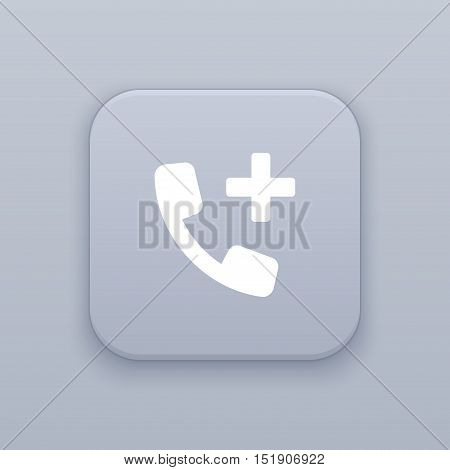 Add contact icon, telephone  icon , vector illustration