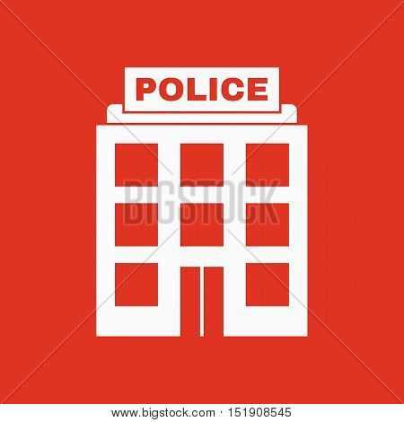 The police icon. Law and authority symbol. Flat Vector illustration