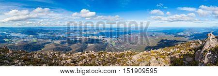 Panorama Of Hobart From Mount Wellington, Tasmania