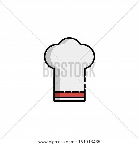 Kitchen icon. Cook cap. Kitchen items in flat style.