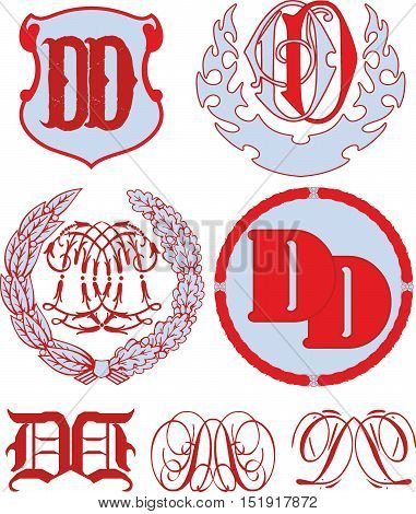 Set Of Dd Monograms And Emblem Templates