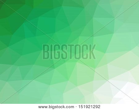 Green White Gradient Abstract Polygon Shaped Background