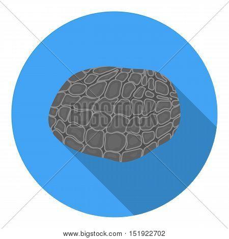 Black truffles icon in flat style isolated on white background. Mushroom symbol vector illustration.