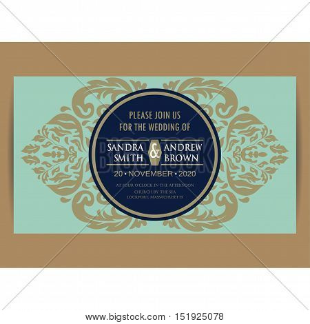 Wedding invitation and save the date card. Also can be used as greeting card birthday card or party invitations.