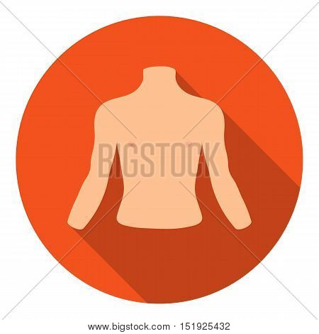 Chest icon in flat style isolated on white background. Part of body symbol vector illustration.