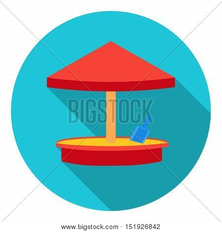 Sandbox icon in flat style isolated on white background. Play garden symbol vector illustration.