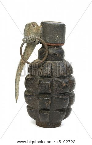 world war two hand grenade isolated on white