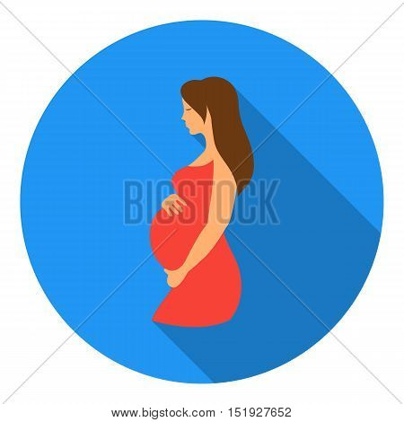 Pregnant icon in flat style isolated on white background. Pregnancy symbol vector illustration.