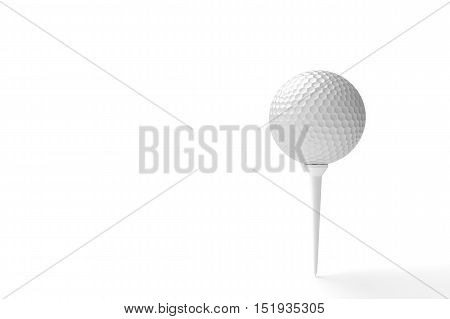 Golf ball isolated on a white background. 3D illustration