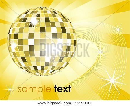retro disco ball background - vector illustration