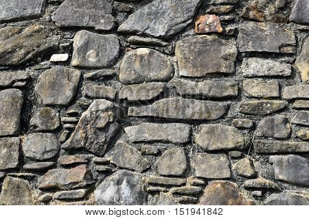 Stone Wall background exterior pattern and texture surface