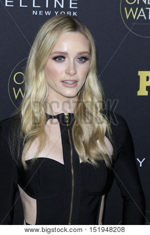 LOS ANGELES - OCT 13:  Greer Grammer at the People's One to Watch Party at the E.P. & L.P on October 13, 2016 in Los Angeles, CA