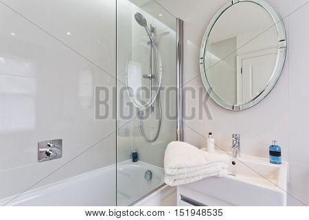 minimal clean bathroom