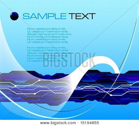 abstract futuristic background - vector illustration - jpeg version in my portfolio