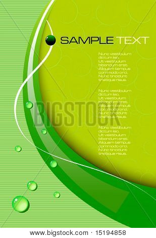 green abstract background - vector illustration - jpeg version in my portfolio