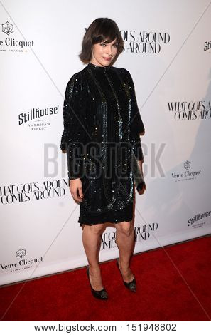LOS ANGELES - OCT 13:  Milla Jovovich at the What Goes Around Comes Around Boutique Grand Opening at the What Goes Around Comes Around Boutique on October 13, 2016 in Beverly Hills, CA