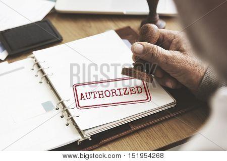 Authorized Allowance Permission Permit Approve Concept