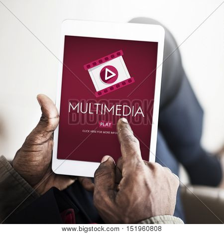 Multimedia Filmstrip Icon Entertainment Concept