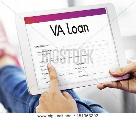 VA Loan Veterans Affair Concept poster