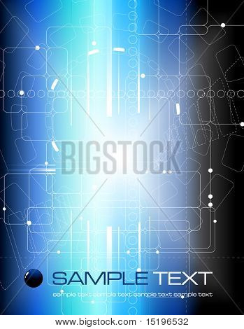 Abstract tech composition - vector illustration