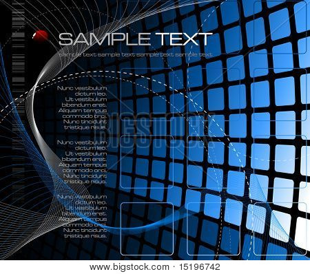 Abstract tech background - vector illustration