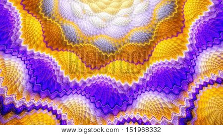 Snake skin. Scaly surface. Exotic flower. 3D surreal illustration. Sacred geometry. Mysterious psychedelic relaxation pattern. Fractal abstract texture. Digital artwork graphic astrology magic