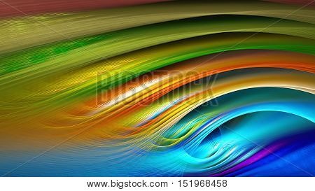 Water ripples. Rainbow waves. 3D surreal illustration. Sacred geometry. Mysterious psychedelic relaxation pattern. Fractal abstract texture. Digital artwork graphic astrology magic